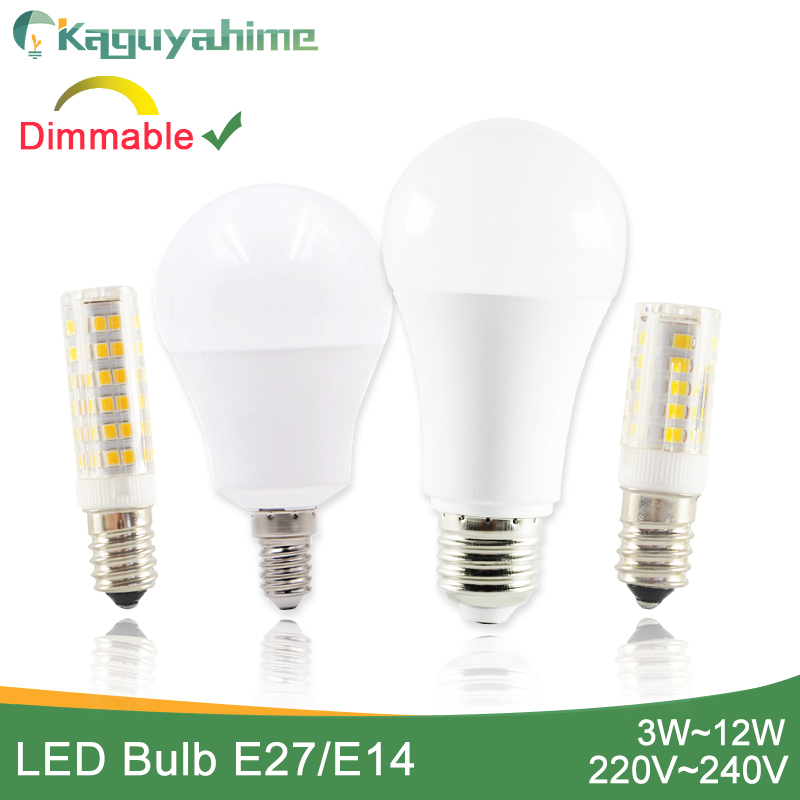 Kaguyahime 1pc/5pcs Dimmable Mini E14 LED Bulb 220V LED E14 Lamp LED Light E27 3W 5W 6W 9W 12W Lampada Lampara Bombilla Ampoule