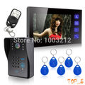 Home 7 inch Touch Key Video Door Phone Intercom Entry System 1 Monitor  1 IR Doorbell Camera System