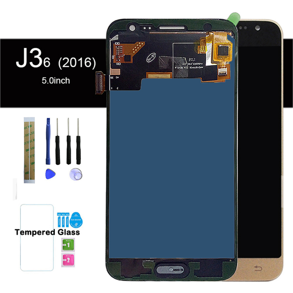Adjust Brightness LCD For Samsung Galaxy J3 2016 J320 Screen J320FN J320F J320G J320Y J320M / DS With Adhesive and Home ButtonAdjust Brightness LCD For Samsung Galaxy J3 2016 J320 Screen J320FN J320F J320G J320Y J320M / DS With Adhesive and Home Button
