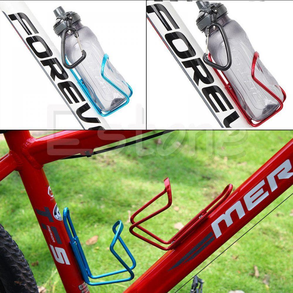 2Pcs MTB Bike Bicycle Alloy Aluminum Water Bottle Holder Cages Brackets Rack USA