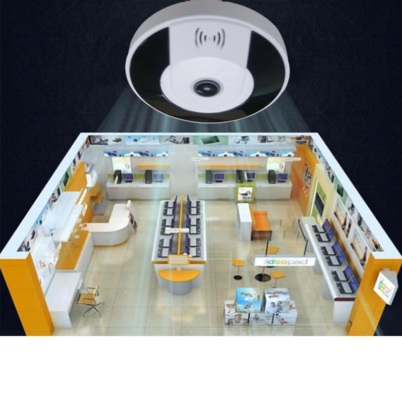 Binmer Accessories Parts Remote Control Wireless 3D-VR360 Mini 360 Degree Panoramic Wireless Wifi IP Fisheye Camera Audio dec21 vr360 panoramic camera wi fi remote control sports action camera