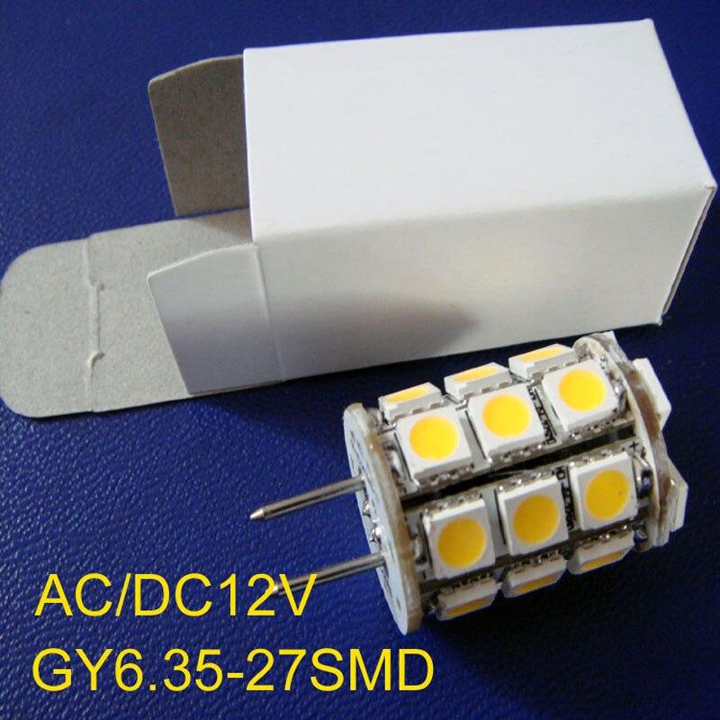 High quality 5050 <font><b>GY6</b></font>.35 <font><b>led</b></font> light AC/DC12V 5050 27SMD <font><b>GY6</b></font> <font><b>led</b></font> 12V G6.35 bulb free shipping 20pcs/lot