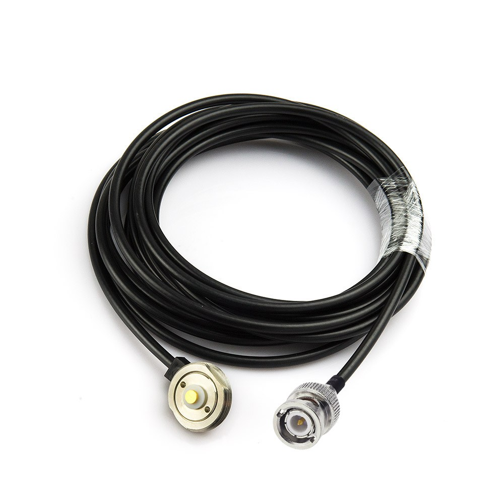 Eightwood RF coaxial coax truck antenna adapter cable assembly BNC male to NMO mount coax connector Pigtail jumper RG58 Cable