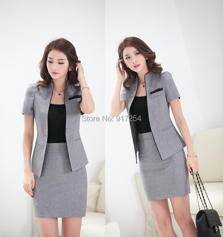 Nueva formal elegante gris 2015 primavera verano estilo for Estilos de oficinas