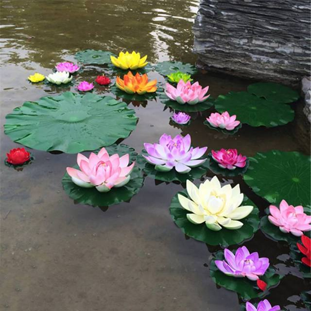Lotus Flower Aquarium Decor For Fish Tank And Pond 7 Colors Flight