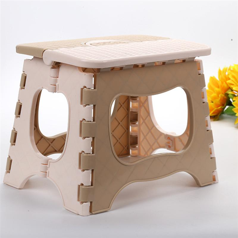 Folding Step Stool Foldable Plastic Portable Small Stool Chair Bench ...
