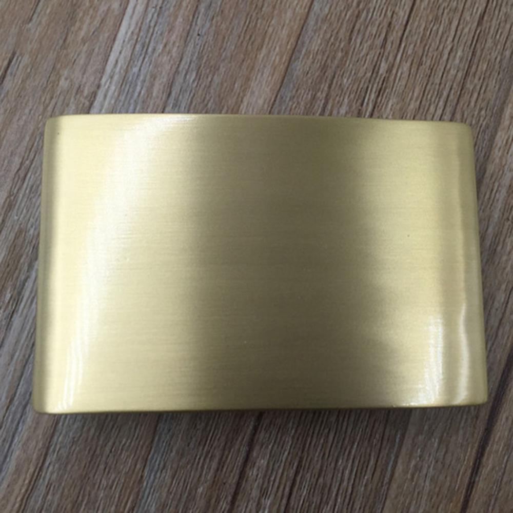 CUKUP New Men Geometric Ellipse Pattern Brass Belt Buckle 3.8cm Smooth Style Fashion Youth Wind Belt Buckle Wholesale BRK013
