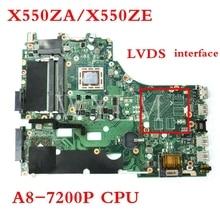 X550ZA motherboard A8-7200P mainboard For ASUS X550ZA X550Z VM590Z X550ZE X550Z K550Z LVDS interface Laptop motherboard цена