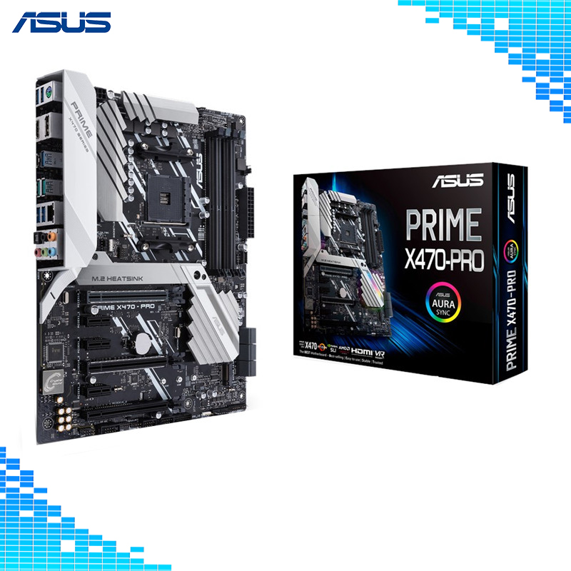 цена Asus PRIME X470-PRO Desktop Motherboard AMD X470 Chipset Socket AM4 gaming mother board