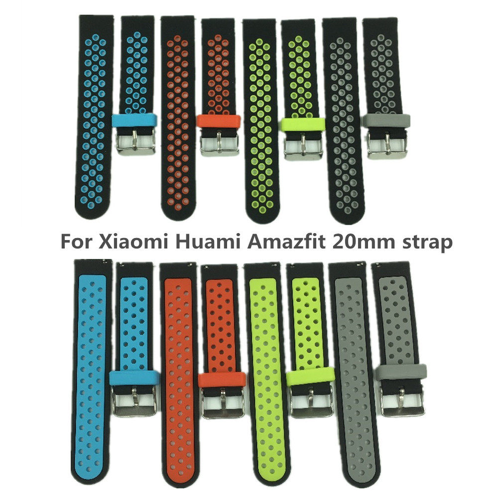 SmartWatch Straps Dual Silicone Replacement Band for Amazfit Youth For Xiaomi Huami Amazfit Bip BIT PACE Lite Youth Smart Watch huami amazfit smartwatch gps amazfit sports smart watch bluetooth wifi dual 512mb 4gb heart rate monitor for xiaomi ios english