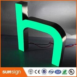 Custom decoratieve storefront teken LED hars kanaal brief