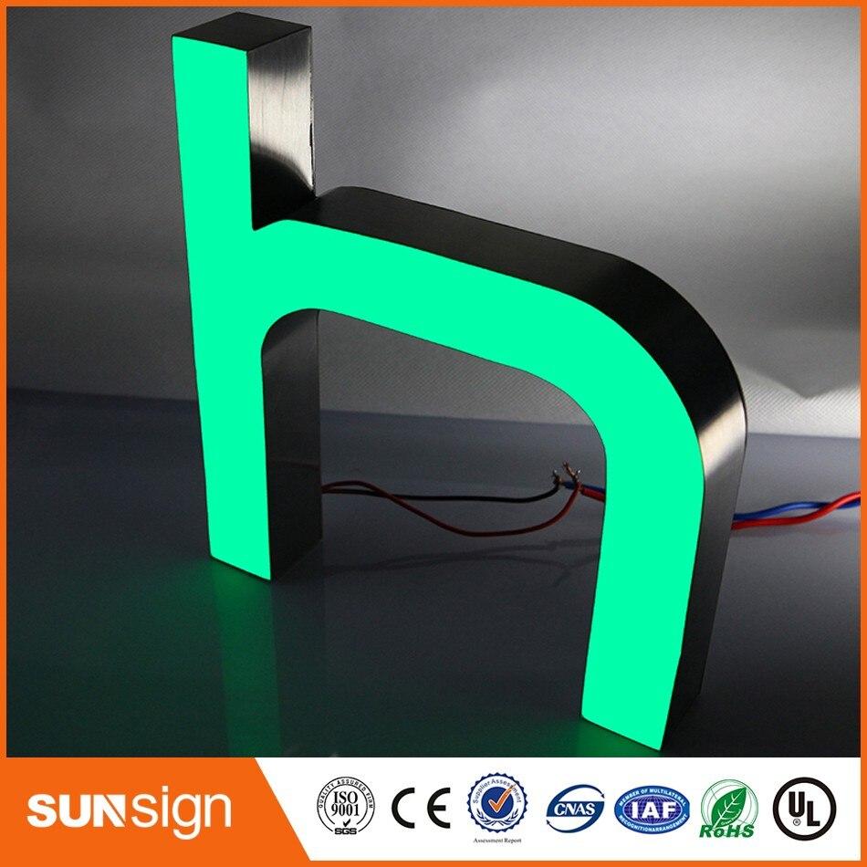 Personnalisé décoratif vitrine signe LED lettre de canal de résine