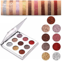9 Colors Cosmetic Makeup Pressed Glitter Eyeshadow Pallete Brand New Diamond Foiled Eye Shadow Make up Palette