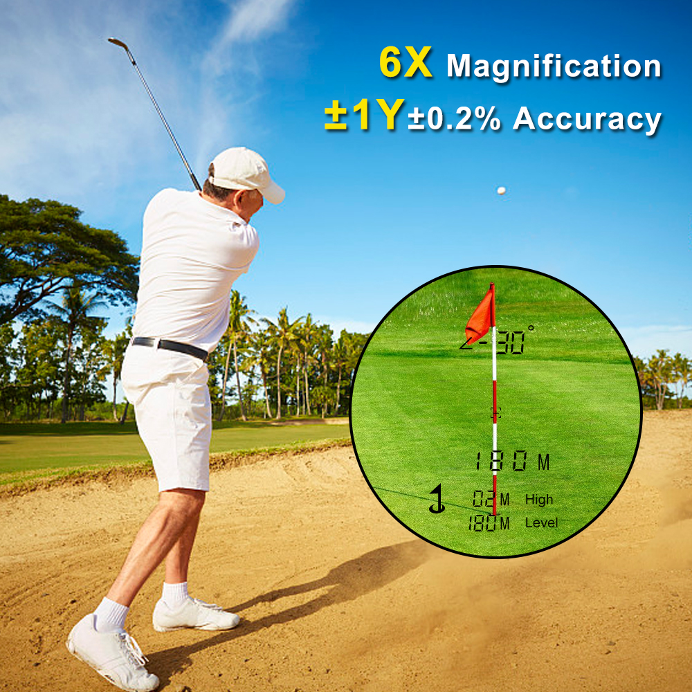 Image 5 - 600M Golf Laser Rangefinder Precision Range Finder 6X Magnification Distance Meter Angle Height Range Finder for Golf Hunting-in Rangefinders from Sports & Entertainment