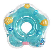 2016 new Baby Swim Aid Floats Neck Collar Inflatable Tube Ring Cute Mini Swimming Ring For Babies