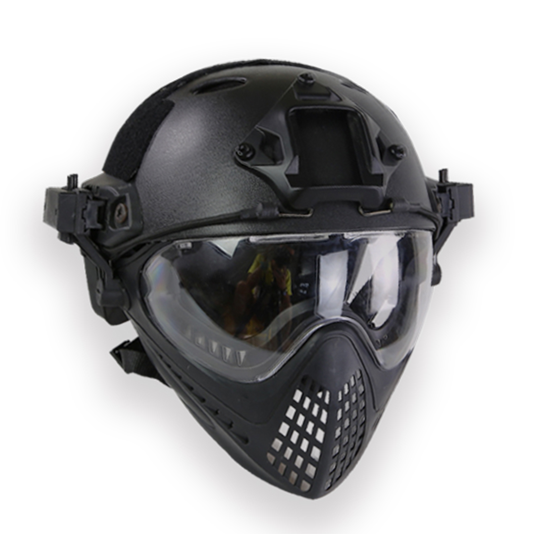 купить Surwish Navigator Tactics Camouflage Protecting Helmet for Outdoors Activities Battle Games - Black Type L по цене 5039.29 рублей