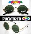 2015 Круглые старинные золотые Оззи стиль водителя TAC усиливается поляризованный polaroid гольф рыбалка UV400 Мужчины женщины солнцезащитные очки