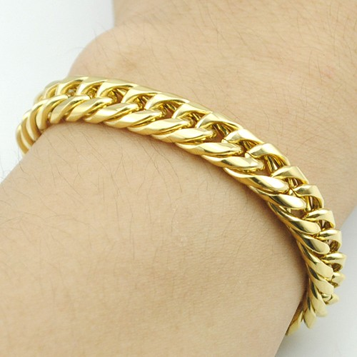 Boy's Men's Stainless Steel Link Chain Bracelet 16 Fashion Jewellery, Wholesale Free shipping, HB027 11