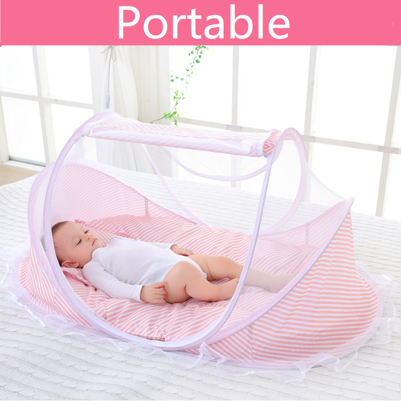 Back To Search Resultsmother & Kids Pink/blue 2018 New Baby Mosquito Bed Net Infants Sleeping Pad Pillow Yurt Bedspread Mosquito Net Collapsible Portable