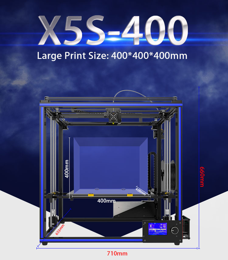 Newest 2018 Tronxy 3D Printer X5SA-400 High Accuracy Fast Speed DIY  Assembly Printer with Sensor 3 5 inches Touch Screen