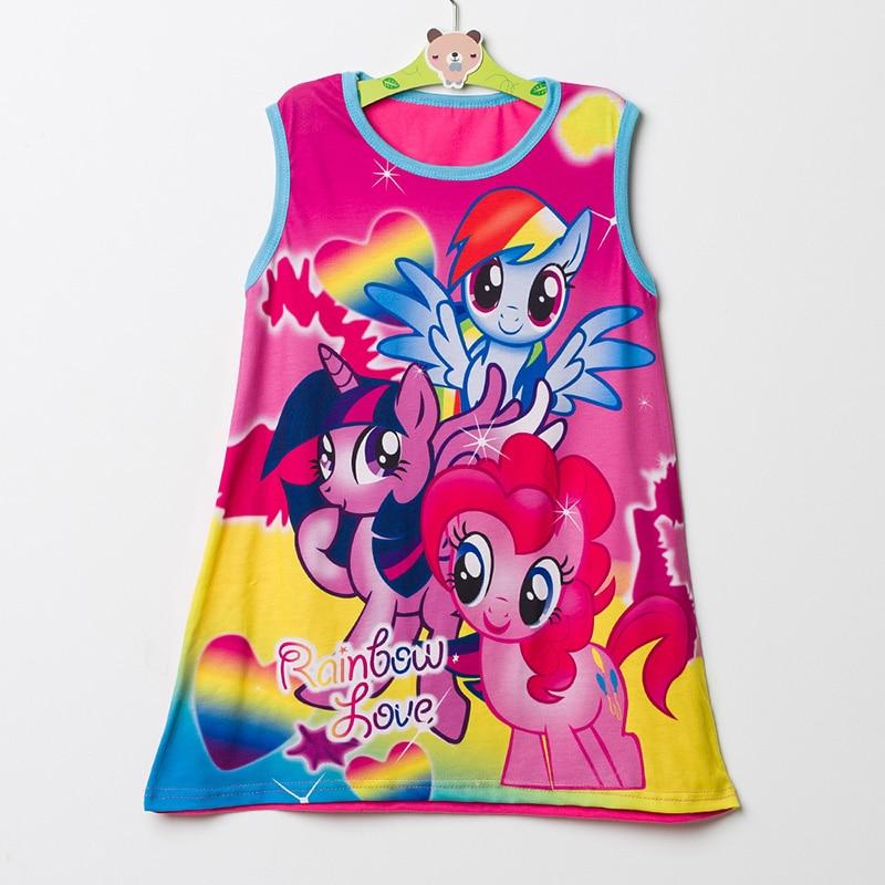 Hot Sale New 2017 baby girl Cartoon Fashion princess flower dress summer casual for kids children roupas infantil meninas