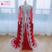 Роскошные кафтан Marocain вы Исламская Абаи в Дубае вечернее платье с длинным рукавом vestido longo; марокканской кафтан Винтаж платье для выпускного