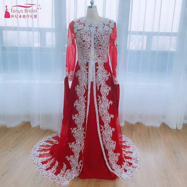 Luxury Caftan Marocain Islamic Abaya in Dubai Evening Dress Long Sleeve  vestido longo Moroccan Kaftan Vintage Prom Dress DQG189 70590ee3b4d1