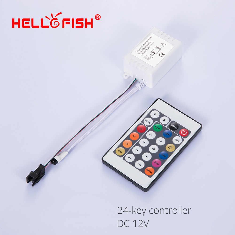 WS2811 WS2812B UCS1903 كامل اللون وحدة تحكم في البكسل LED قطاع ضوء RF اللاسلكية عن بعد IR تيار مستمر وحدة تحكم USB
