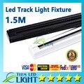 1.5 M engrosse led faixa luminária 85 V - 265 V Tracklights preto branco faixa de luz holofotes conector elétrico garantia 3 anos