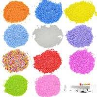 5500Pcs DIY Snow Mud Particles Slime Foam Balls Beads DIY Wedding Party Decoration Polystyrene Filler Crafts 2-3mm For Children
