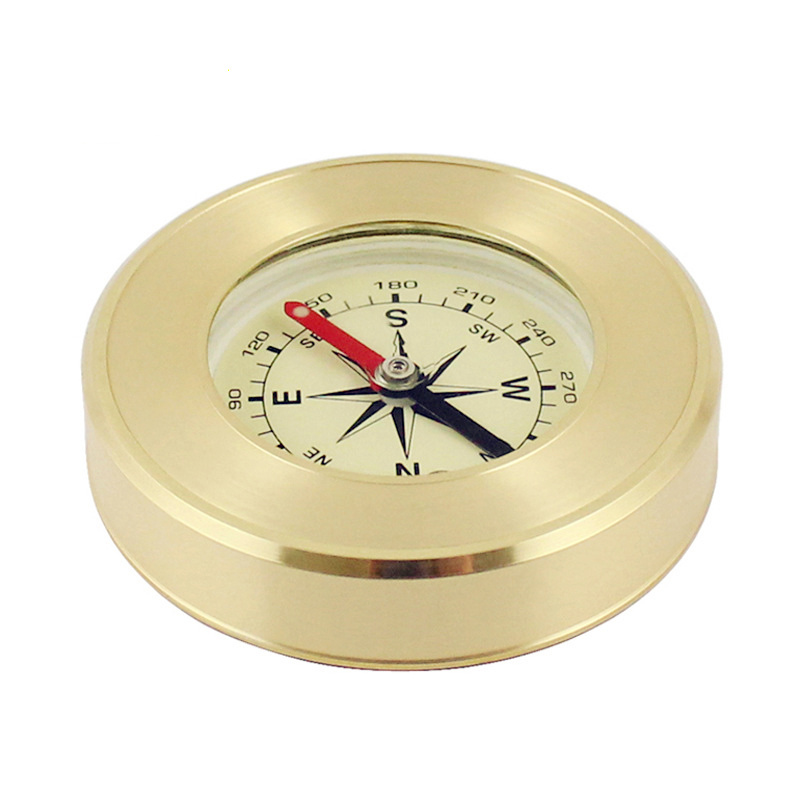 2018 High grade Brass Advertising Gifts Outdoor Tools Compass Metal Crafts Tourism Souvenirs in Compass from Sports Entertainment