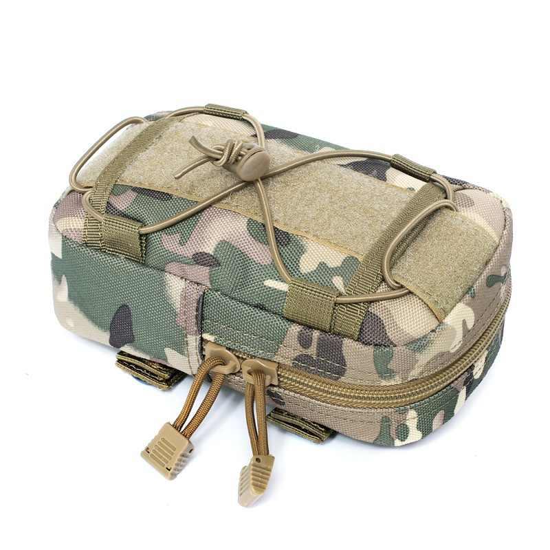 戦術的なポーチモール狩猟バッグベルトウエストバッグ軍事ファニーパック屋外ポーチ電話ケースポケットウエストファニーバッグ