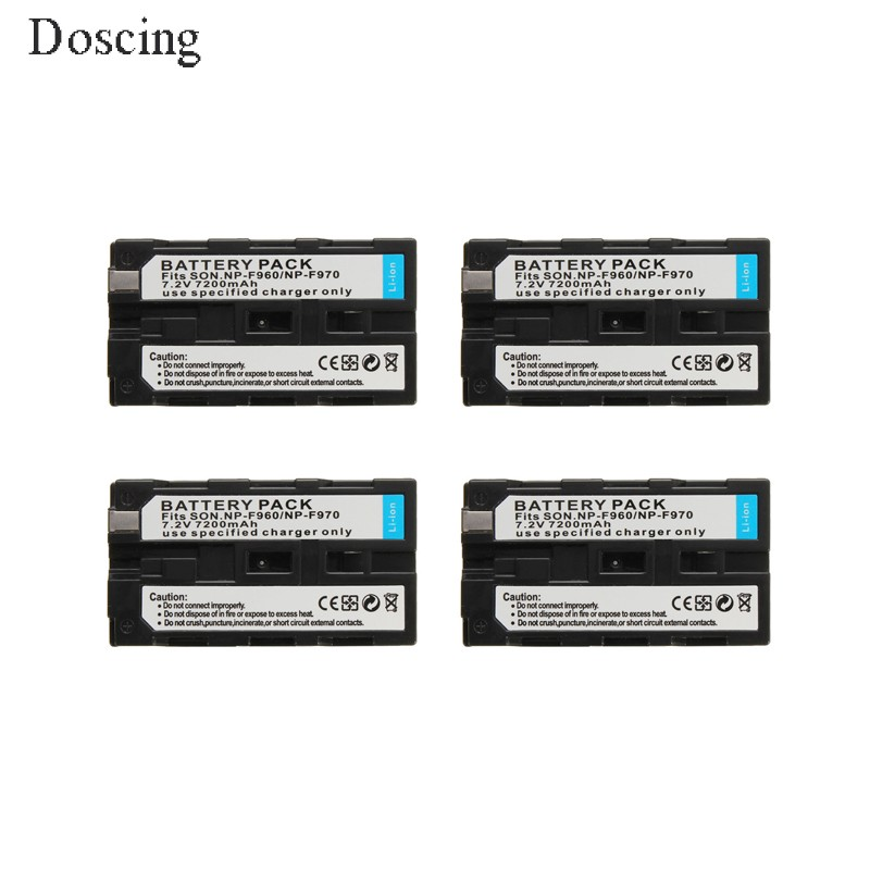 7200mAh NP-F960 NP-F970 NP F930 Rechargeable Camera Battery for SONY F950 F330 F550 F570 F750 F770 MVC-FD51 1400mah camera battery for sony np bg1 np fg1 dsc h3 dsc w70 bc csge bc csgd w30