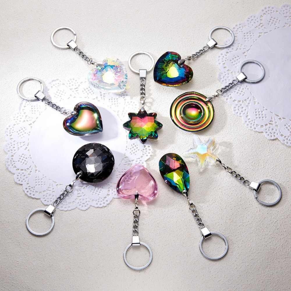Rinhoo Популярные Красочные сердце/звезда/Капля воды/круглый кристалл брелок модные ювелирные изделия Аксессуары подарок для женщин