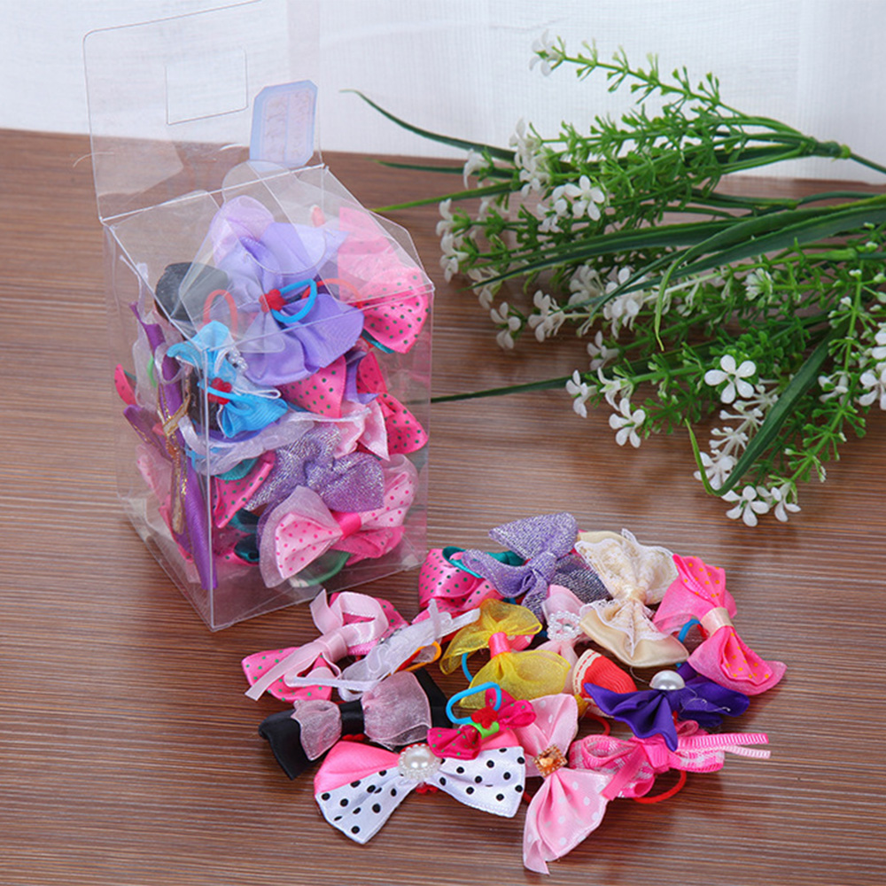 600pcs/lot Handmade Pet Grooming Accessories Products Dog Bow  Hair Little Flower Bows For Dogs Charms Gift