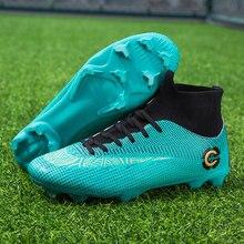 543ee18ff ZUFENG nowy dorosłych męska Outdoor Soccer korki buty wysokiej Top TF/FG  buty piłkarskie szkolenie sportowe Sneakers buty plus r.