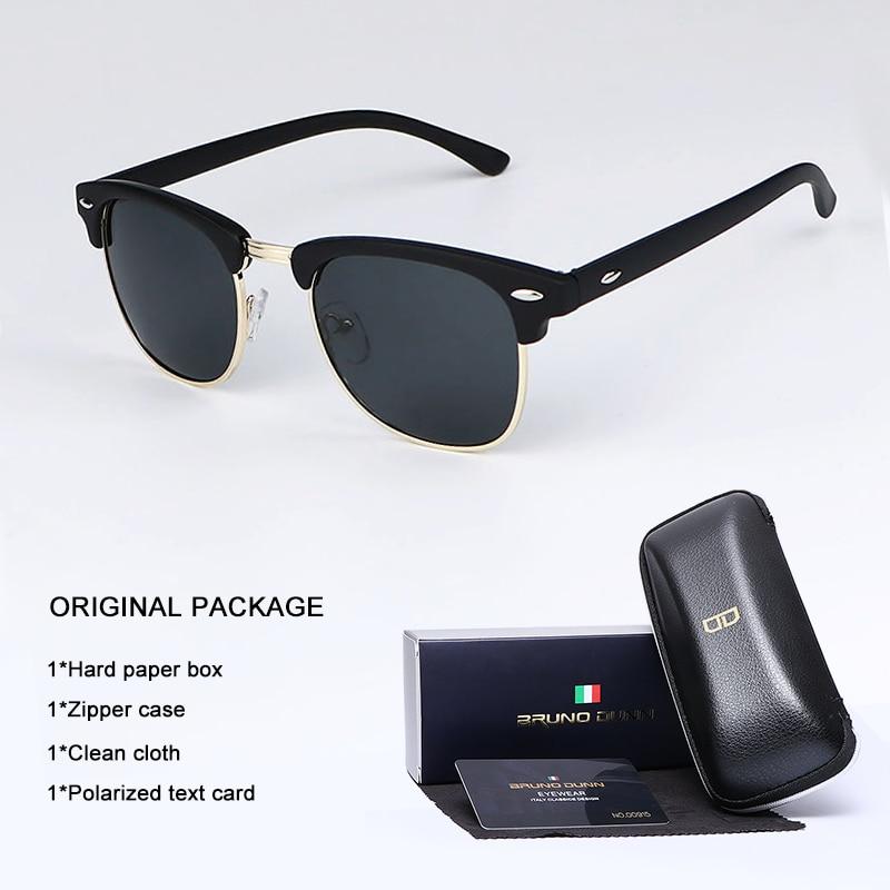 Bruno Dunn Sunglasses Men Women polarized Brand Design Sun Glasses Oculos masculino feminino sol lunette de soleil femme Ray