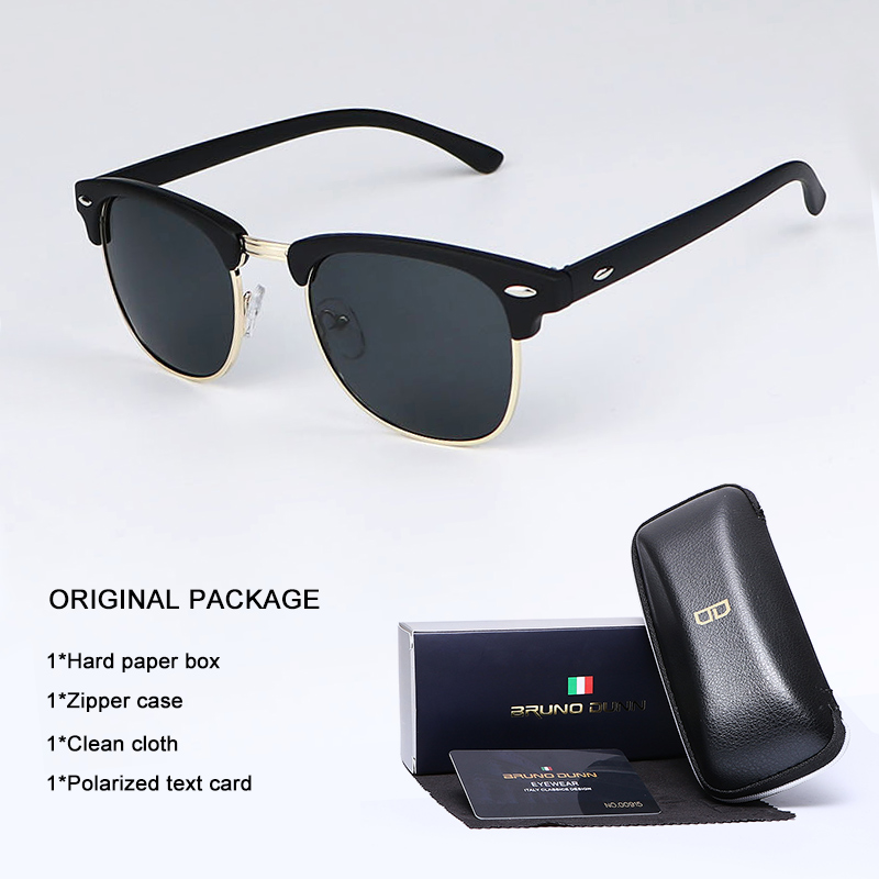 Bruno Dunn Sunglasses Men Women polarized Brand Design Sun Glasses Oculos masculino feminino sol lunette de soleil femme Ray(China)