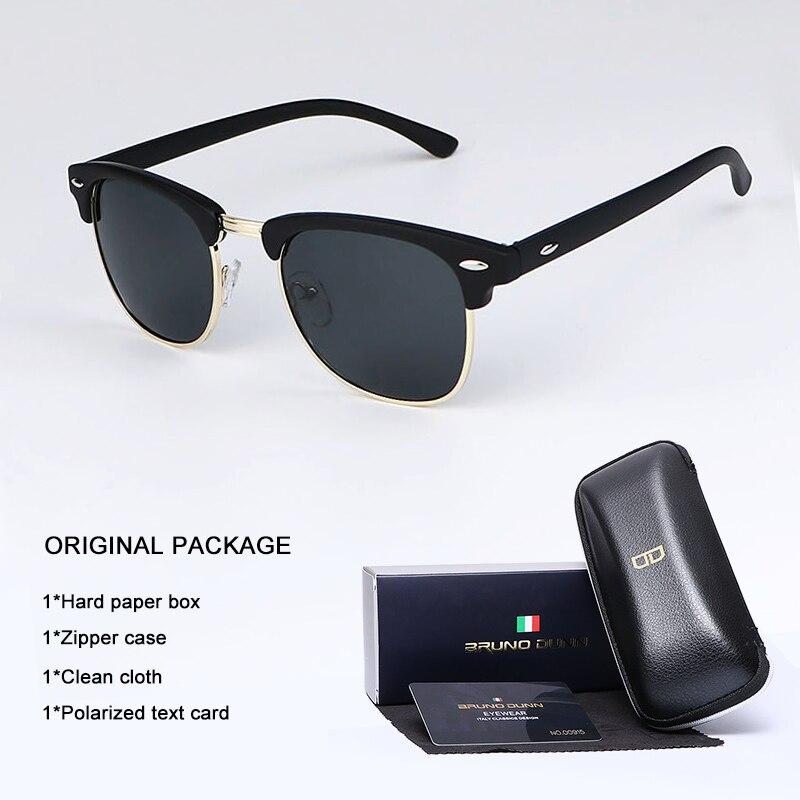 Bruno Dunn lunettes de soleil hommes femmes polarisées marque Design lunettes de soleil Oculos masculino feminino sol lunette de soleil femme Ray