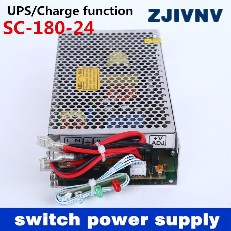 New 180W 24V 6.5A universal AC UPS/Charge function monitor switching power supply input 110/220v 24v battery charger 24vdc 35w 24v universal ac ups charge function monitor switching mode power supply sc35w 24