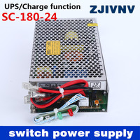 New 180W 24V 6.5A universal AC UPS/Charge function monitor switching power supply input 110/220v 24v battery charger 24vdc