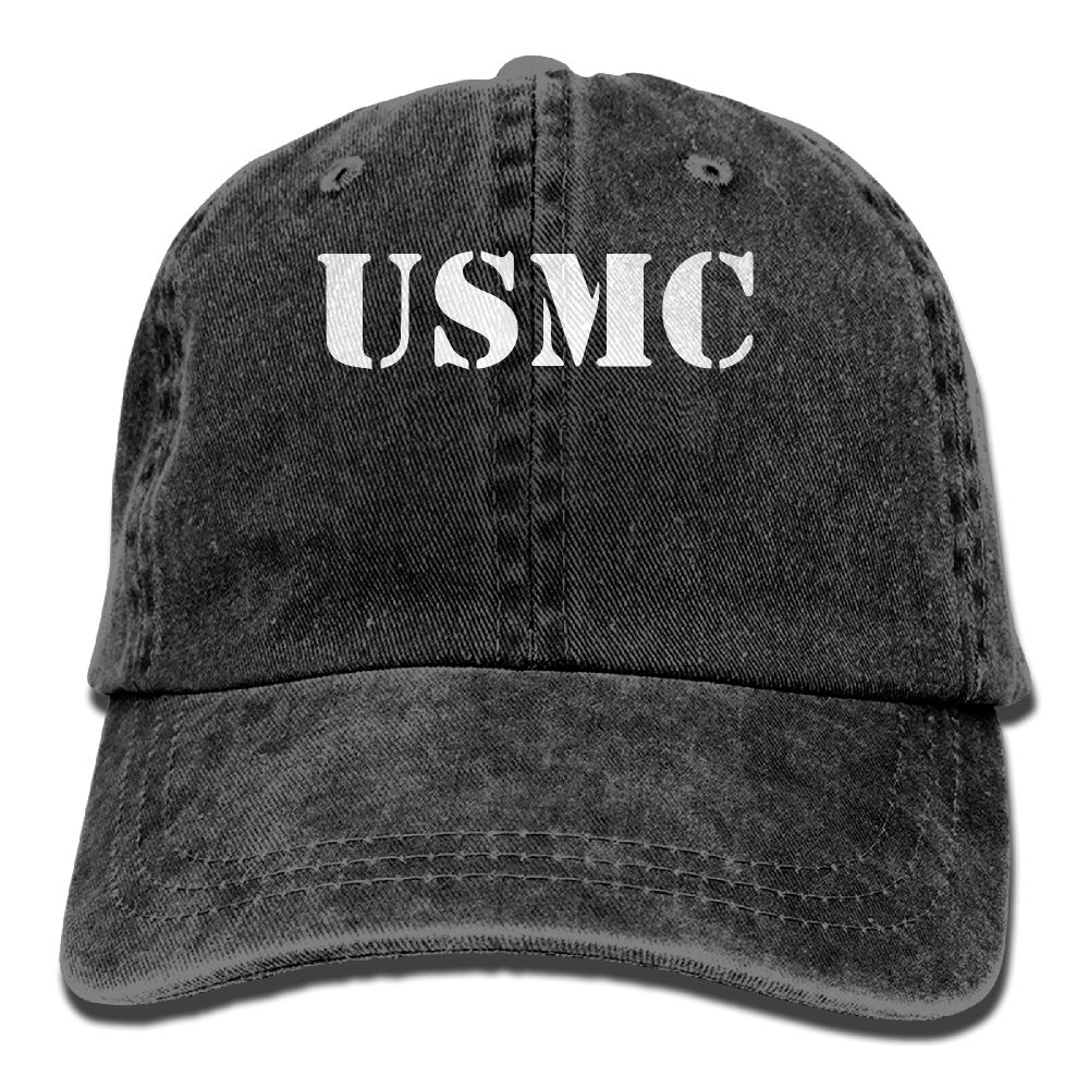 US $5 72 48% OFF|SAMCUSTOM United States Marine Corps USMC American Flag 3D  Washed Denim Hats Autumn Summer Men Women Golf Sunblock Hockey Caps-in
