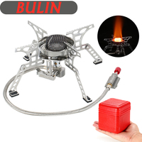 Stainless Steel Camping Stove Outdoor Windproof Stove Mini stove Ultralight Pocket Gas Powered Cooking Stove Picnic Equipment