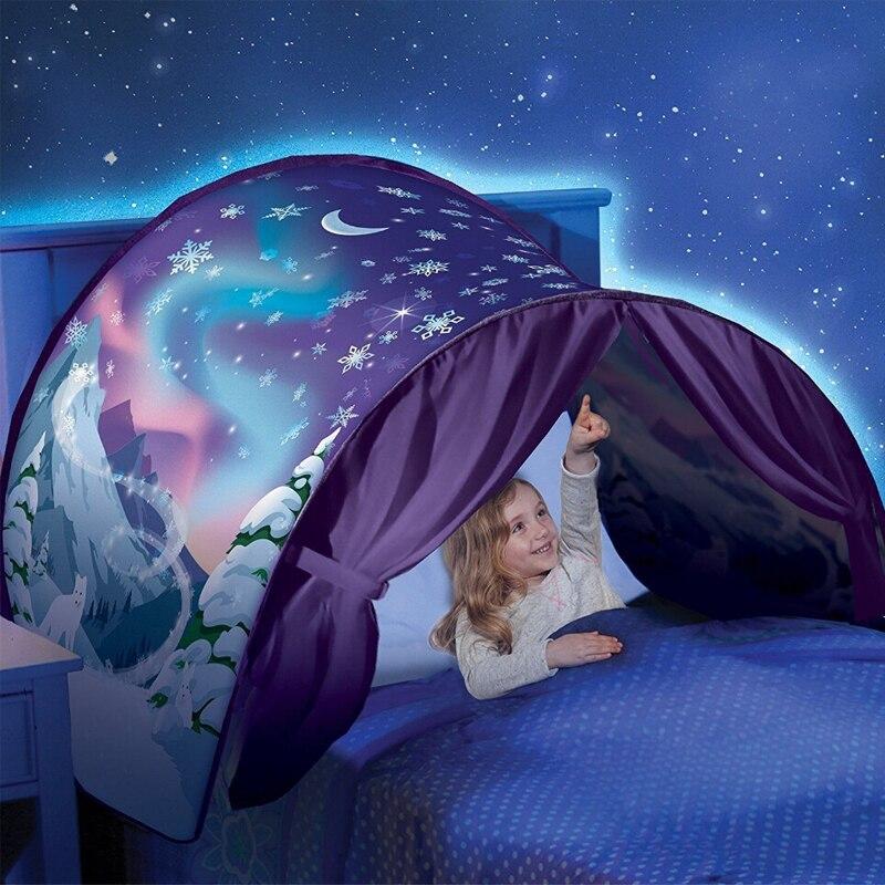 Droom Tent Baby Kids Kinderen Jongen Meisje Bed Kasteel Spelen eenhoorn Huis Bithday Kerstcadeaus Magische Droom Wereld Speelgoed Tenten