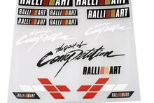 12x12cm RALLIART Competition Sticker Set Refitting Car Styling Decals DIY Body Window Exterior Interior Decor for Mitsubishi