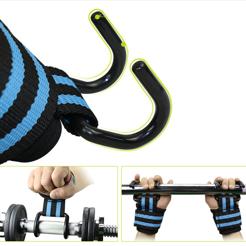 Profession Neoprene Dumbbell weightlifting bar Weight Lifting Training Gym Hook Grips Straps Gloves Wrist Support Lift