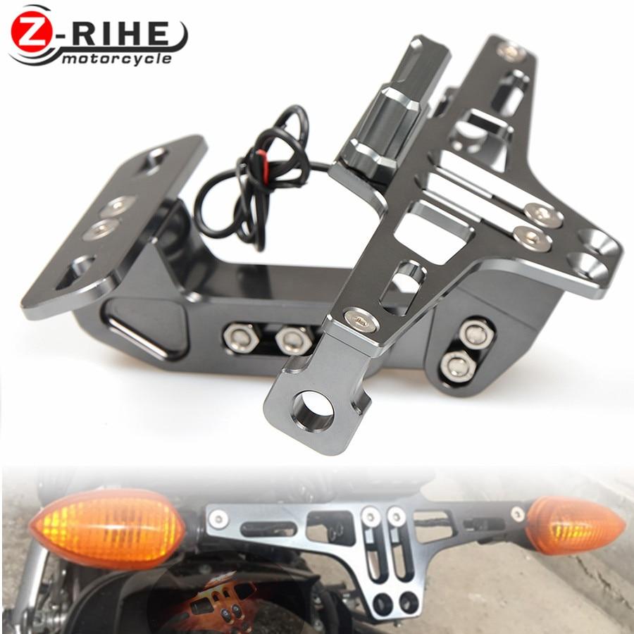 Motorcycle License Plate Bracket Licence Plate Holder Frame Number Plate For honda CBR 1000 RR 1000RR CBR1000RR Cbr600 yzf r3 R6