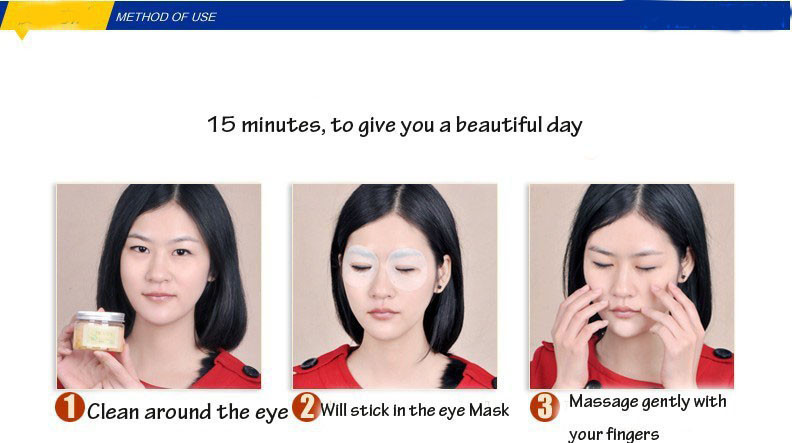 Osmanthus Eye Mask Potent Remove Dark Circles and Pouch Anti Wrinkle To Swelling To Fat Particles Hydrating Eye Cream 60pcs 14