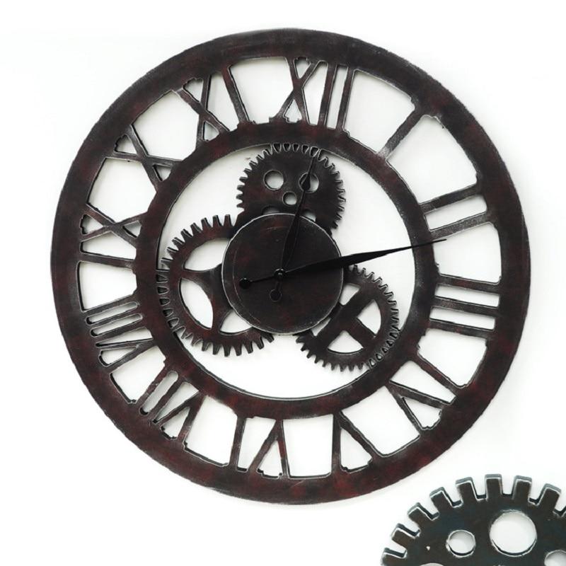 60cm large wall clock saat reloj reloj gear wall - Horloge murale 60 cm ...