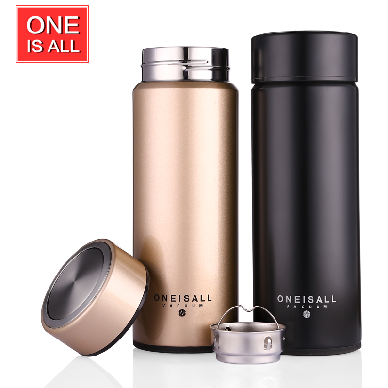 buy 450ml thermos cup 304 stainless steel insulated mug with tea infuser thermo. Black Bedroom Furniture Sets. Home Design Ideas